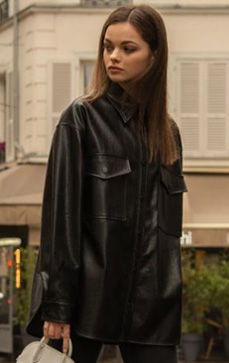 M.Oversized Leather Shirt